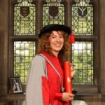 A picture of Kate Bellingham with her Honorary Doctorate