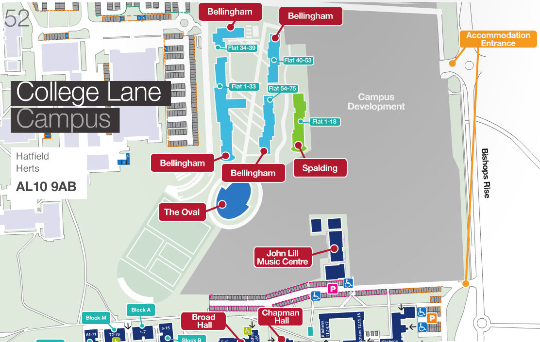 College Lane Campus Map